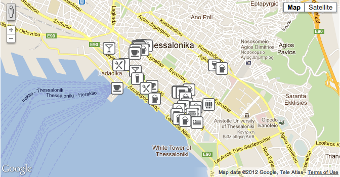 Local Thessaloniki map